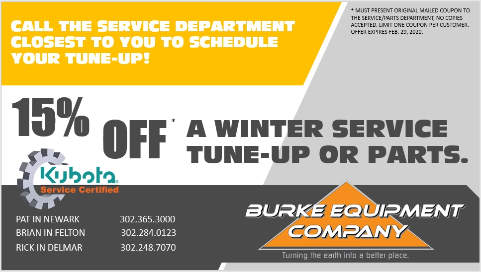 15% off a Winter Service Tune-Up or Parts Special